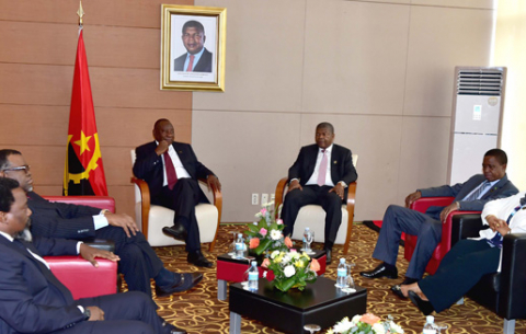 President Cyril Ramaphosa and other SADC Double Troika Heads of States and government at the Extraordinary Summit in Luanda, Angola/GCIS