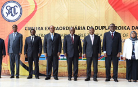 President Cyril Ramaphosa during the Extra Ordinary Summit held in Luanda, Angola.