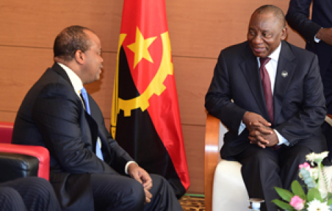President Cyril Ramaphosa and other SADC Double Troika Heads of States and government at the Extra-ordinary Summit, in Luanda Angola.