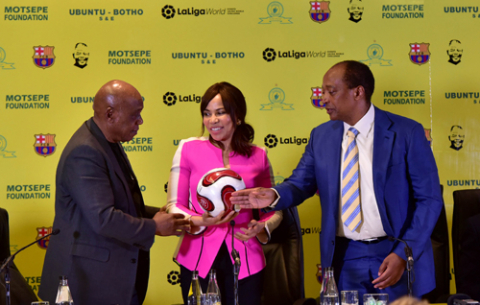 Announcement by Mamelodi Sundowns that it will be hosting La Liga Champions FC Barcelona at on 16 May 2018 at the FNB Stadium as part of the Nelson Mandela Centenary Celebrations