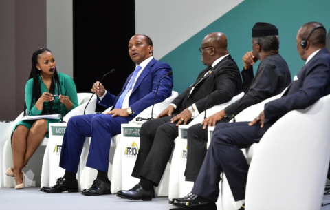 A panel discussion at the Africa Investment Forum in Sandton.