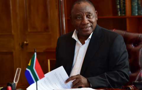 President Ramaphosa puts the final touches to his SONA 2019 speech.