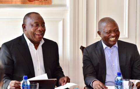 President Ramaphosa and his Deputy David Mabuza ahead of the 2019 SONA.