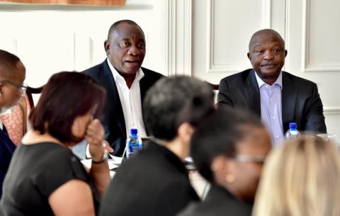 President Cyril Ramaphosa and Deputy President David Mabuza ahead of the 2019 SONA.