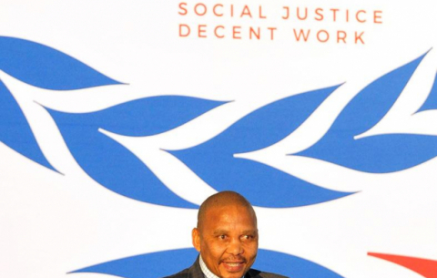 Labour Deputy Minister Phatekile Holomisa at the national launch of the Global Commission on the Future of Work Report in KZN.