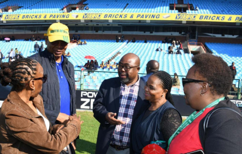 Inter-Ministerial Committee on the Inauguration inspects Loftus Versveld Stadium ahead of the 25 May inauguration, which will be held at the stadium.