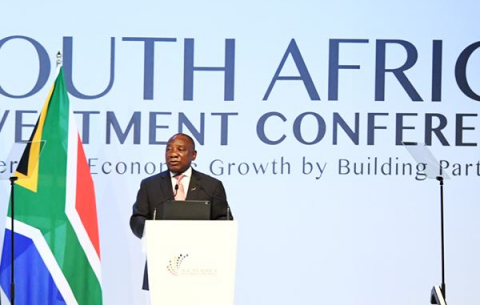 President Ramaphosa at the second South Africa Investment Conference