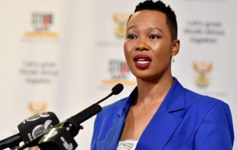 Communications and Digital Technologies Minister Stella Ndabeni-Abrahams briefs on developments in her department.