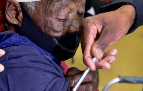 The Second day of vaccination for the elderly at Munsieville Care for the Aged in Krugersdorp, Gauteng.