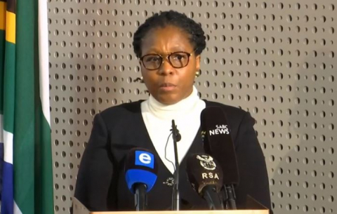 State Security Minister Ayanda Dlodlo briefs media on violent protests in parts of KZN and Gauteng.