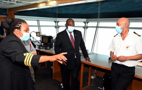 President Cyril Ramaphosa visits Cape Town Port.