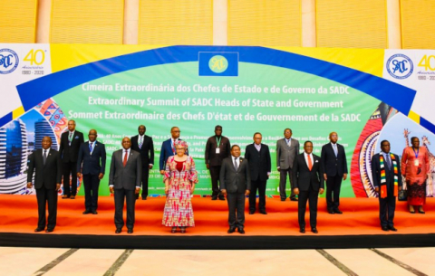 President Cyril Ramaphosa participates in the Extraordinary Summit of the Southern African Development Community (SADC) in Maputo.