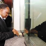 Deputy President Kgalema Motlanthe applies for a Smart Identity Card at Byron House in Pretoria ahead of the official launch on Nelson Mandela Day. Source: GCIS