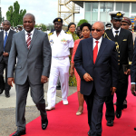 President Zuma and Ghanaian President Dramani Mahama at the end of his State visit in Ghana. Source: GCIS