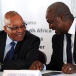 President Zuma and Ghanaian President John Mahama at the Business Forum. Source: GCIS
