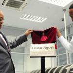 President Jacob Zuma and Nqaba Ngoyi representing family of Lillian Ngoyi. Source: GCIS