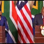 Liberian President Ellen Johnson Sirleaf visits South Africa