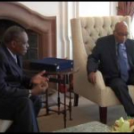 President Jacob Zuma receives courtesy call from CAF President Issa Hayatou