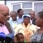 President Jacob Zuma hands over houses built by Sizakele MaKhuma