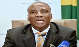 Transport Minister Joe Maswanganyi.