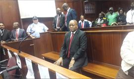 Jacob Zuma returns to the Durban High Court (file pic)