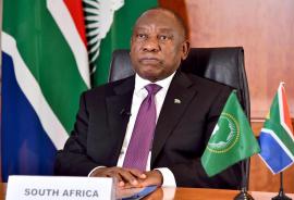 SA President and AU Chair, Cyril Ramaphosa.
