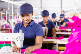 Workers in a textile factory. File image/Vukuzenzele.