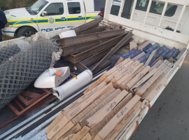 Mpumalanga South African Police nab man for suspected stolen building material