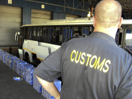 Customs official. File image.