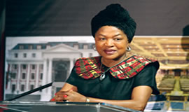 Speaker of Parliament Baleka Mbete