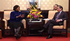 DIRCO Minister Maite Nkoana-Mashabane meeting with her counterpart, Foreign Minister Wang Yi in Beijing, China. DIRCO