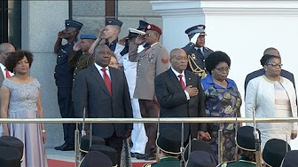 President Zuma arrives in Parliament for SONA 2017