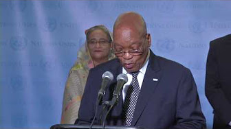 President speaks at High-Level Panel on Water media briefing