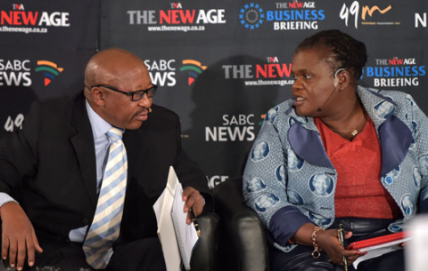 Communications Minister Faith Muthambi addresses The New Age (TNA) Breakfast Meeting on Digital Migration Rollout at Hilton Hotel in Sandton.